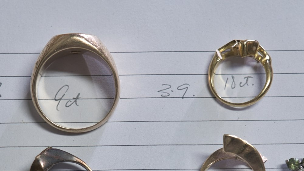 18ct gold had to be alloyed down to 9ct gold.