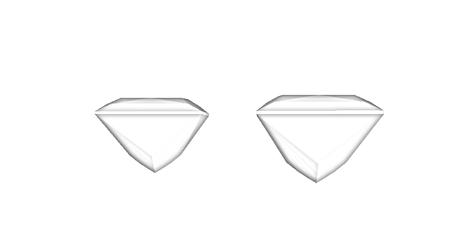 The depth increase in the gems is quite large.