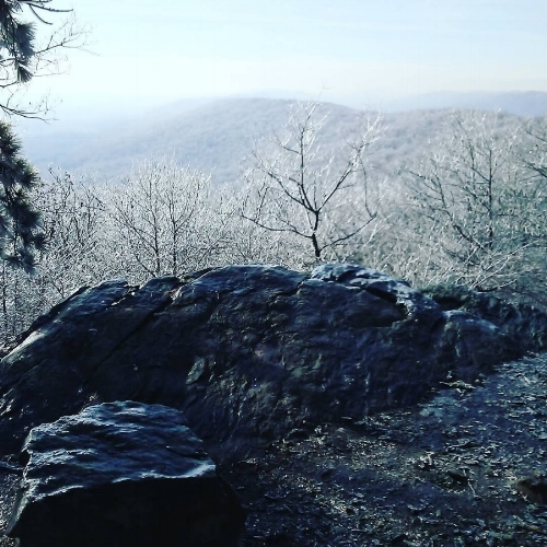 View from White Rocks during my recent hike on the Appalachian Trail.