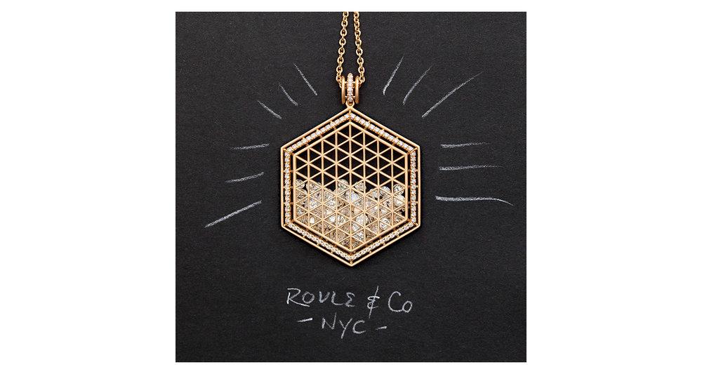 Beveled Hexagon Pendant