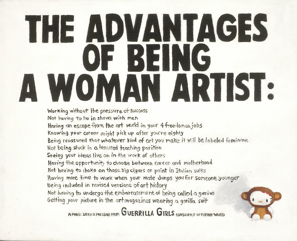 Hello Guerilla Girls (advantages)