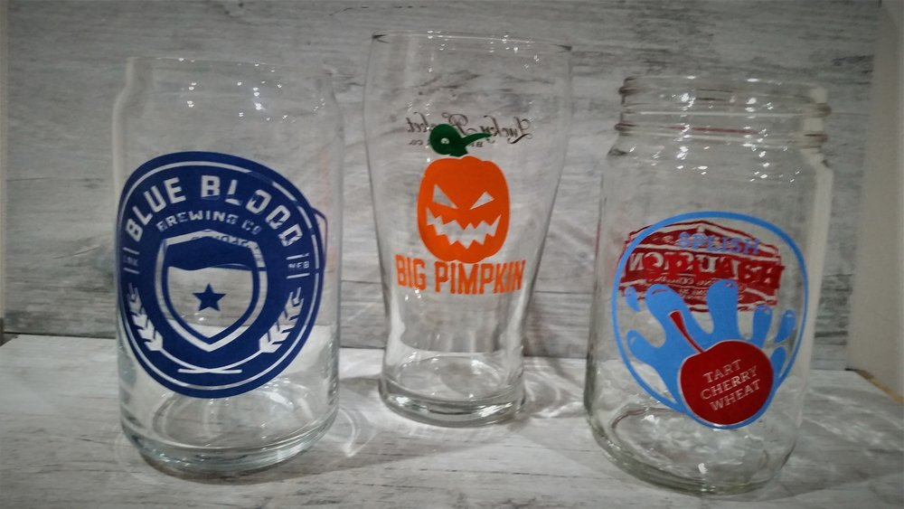 Examples of what the 2 Nebraska Brewery glasses might be