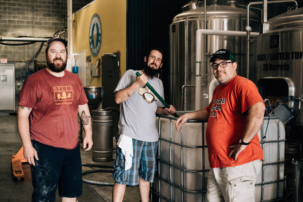 The Brewers of Infusion. From left to right - Tyler Pawelkop, Max Stewart, and Aaron Bush
