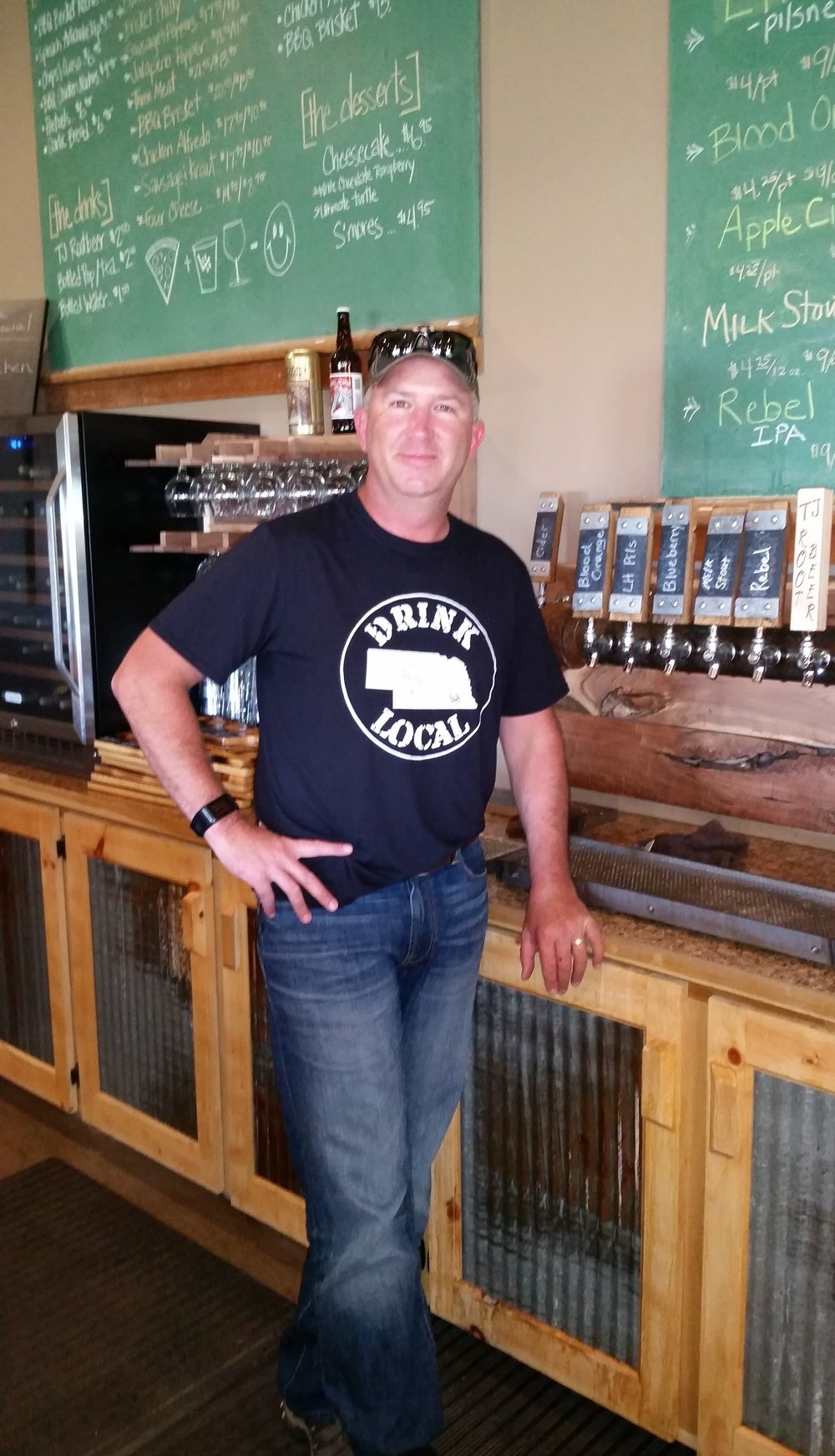 Jim Stutzman - owner & creator of all wines and craft beers