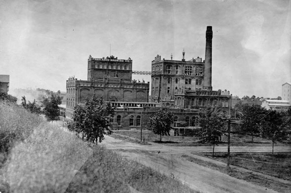 "Photo from the Omaha World Herald. The Krug Brewing Company June 22, 1920 From Wikipedia: The Fred Krug Brewery was located at 2435 Deer Park Boulevard in Omaha, Nebraska. Founded in 1859, Krug Brewery was the first brewery in the city. Krug was one of the ""Big 4"" brewers located in Omaha, which also included the Storz, Willow Springs and Metz breweries. Later sold to Falstaff in 1936, the facility closed in 1987.  Please read the complete story in the link - ""Cheers for Beers"""