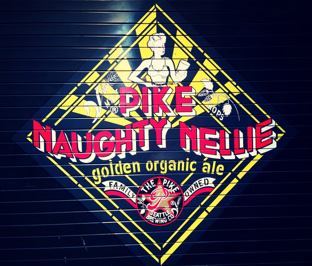 All of Pike Brewing's logo designs are so awesome - I had to get a t-shirt before leaving...