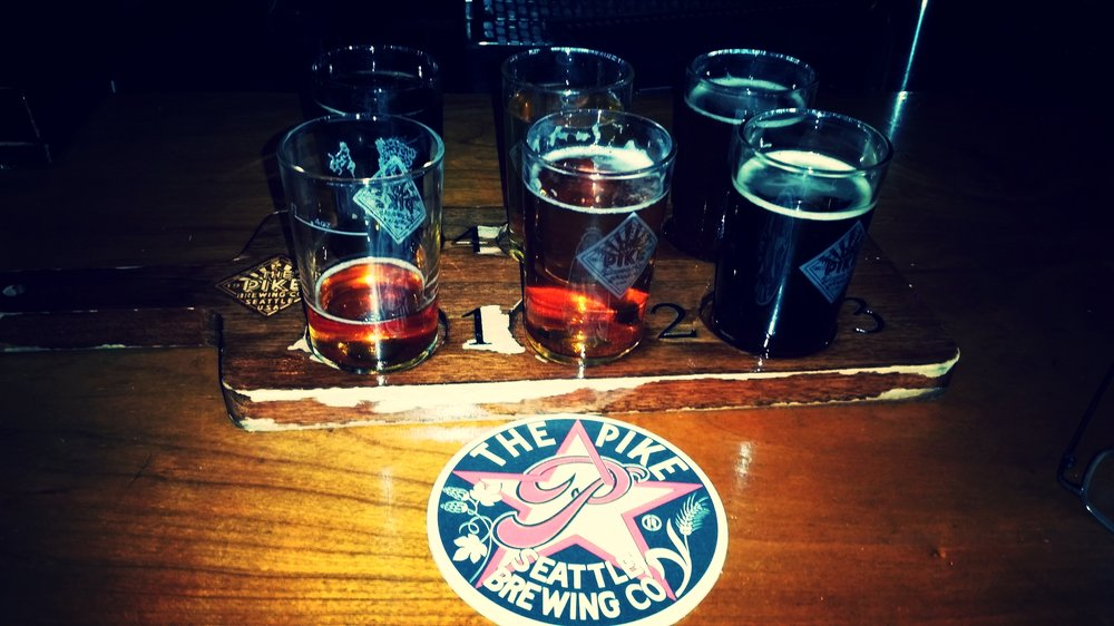 Flight at The Pike Brewing Co