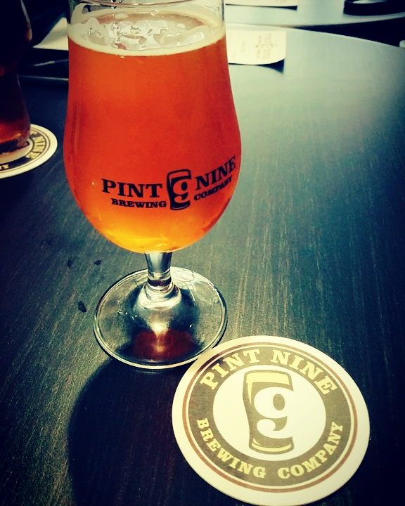 From the Pint Nine taproom on their opening weekend
