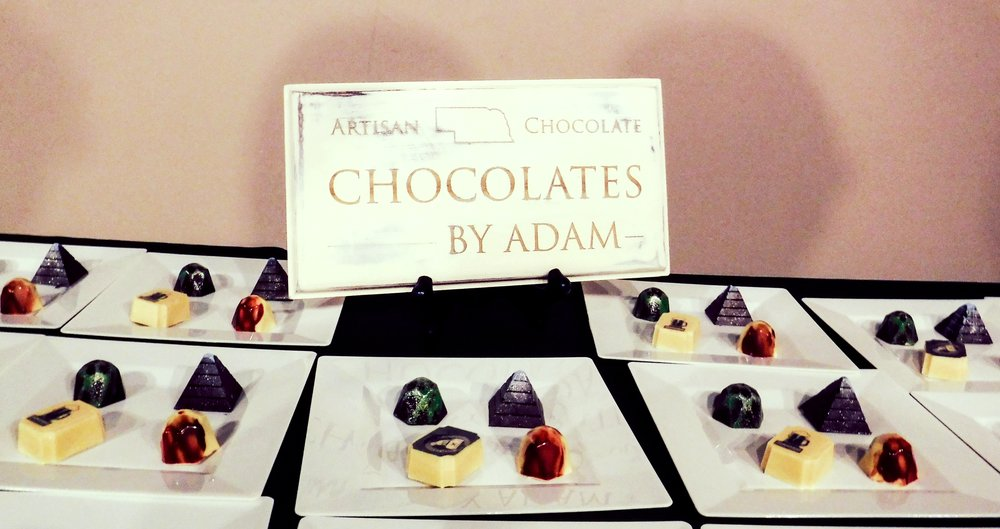 The plates of chocolates at the event