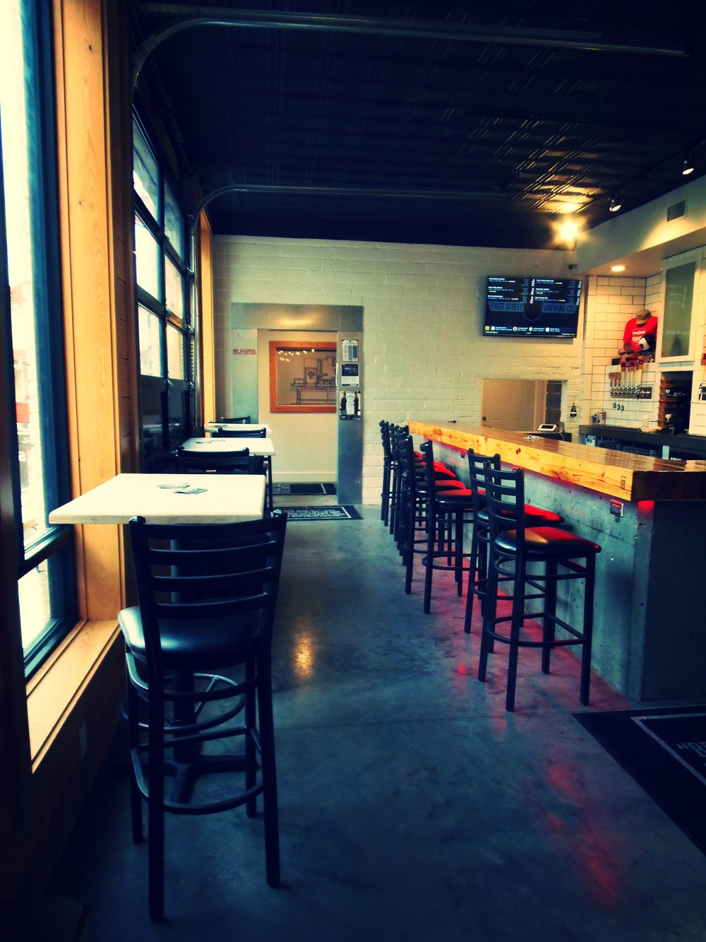 Such a warm and inviting taproom. It is hard to believe this was once an automotive shop.