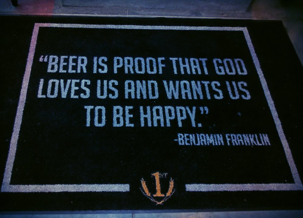 . .. And you definitely are happy at the First Street Brewing taproom