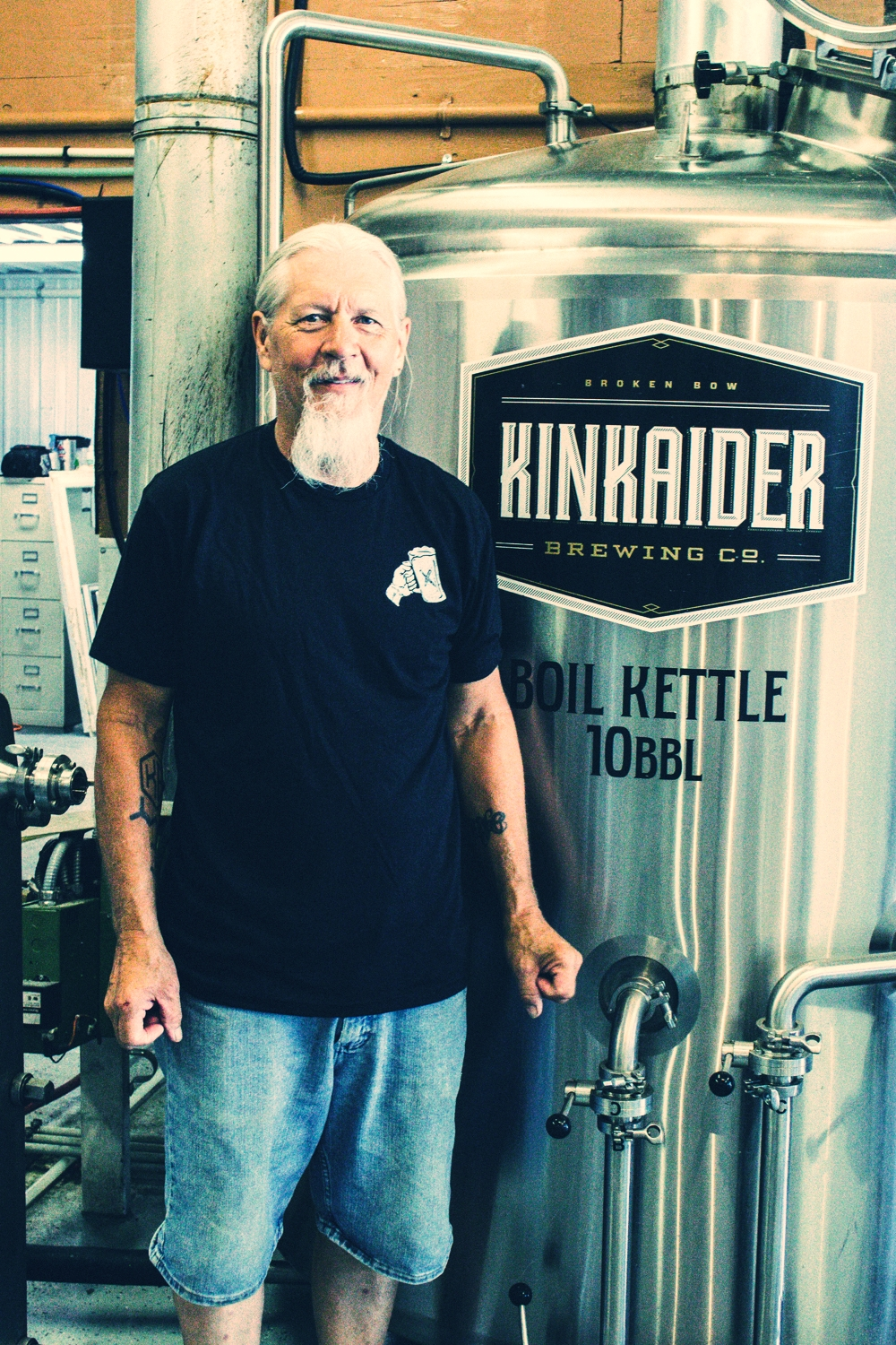 Dan Hodges, brewmaster and co-owner of Kinkaider Brewing Co