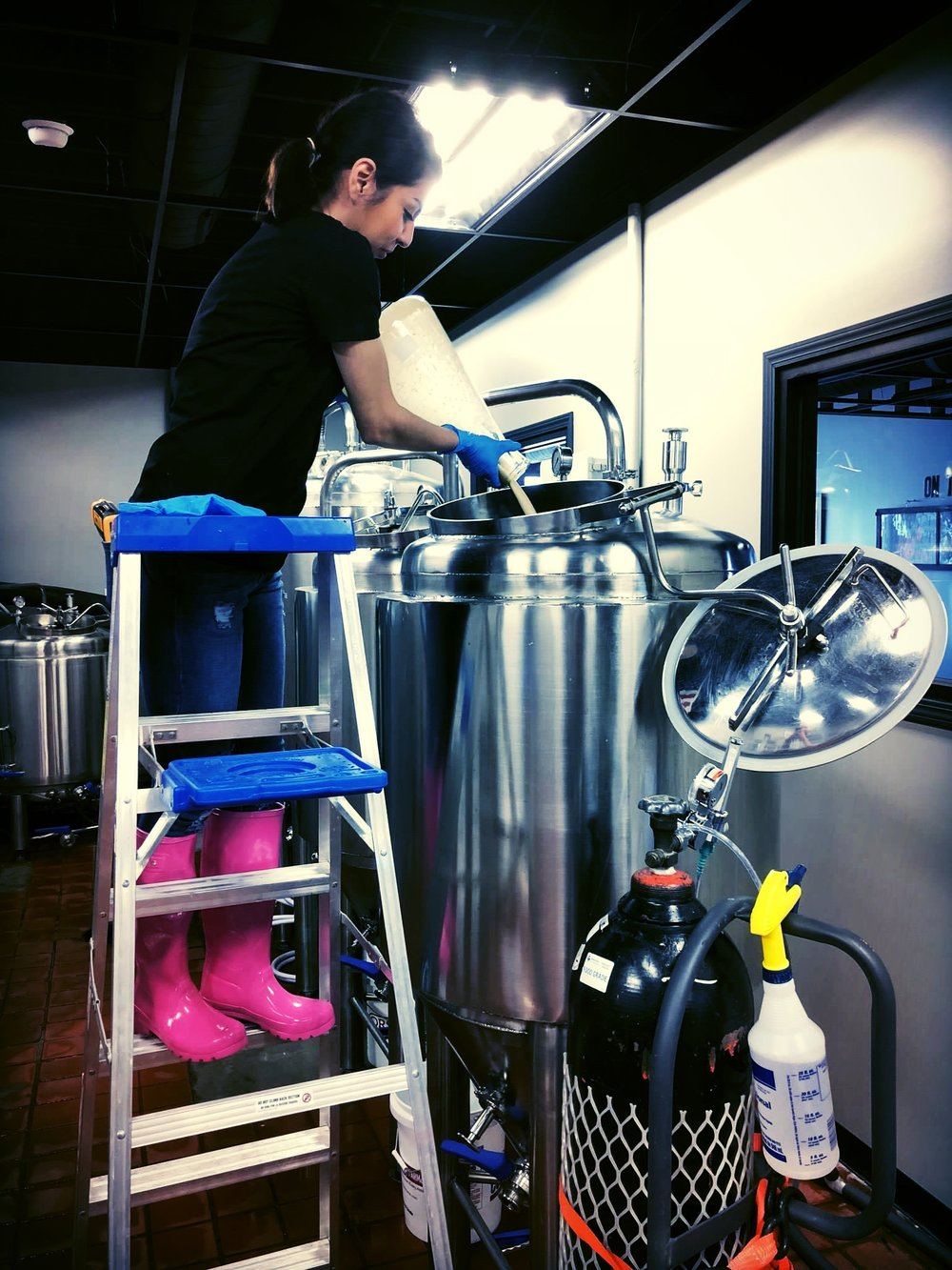 Picture from Jessica during one of her brewing days