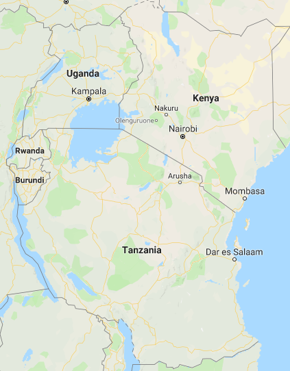 Rwanda in eastern Africa