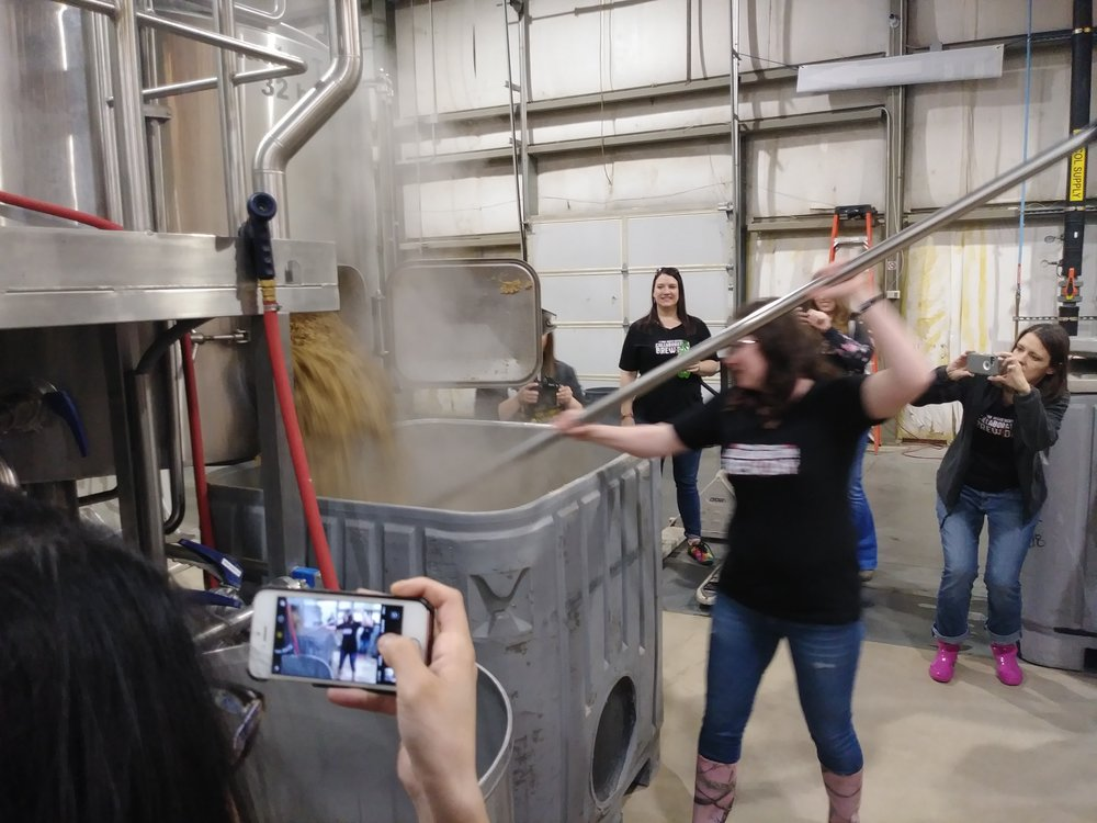 Cleanup of the grain out of the mash tun