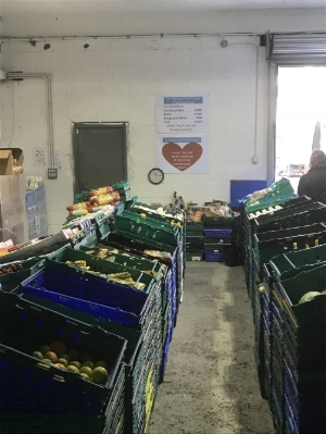 Real Junk Food Project's Social Supermarket in Pudsey, England