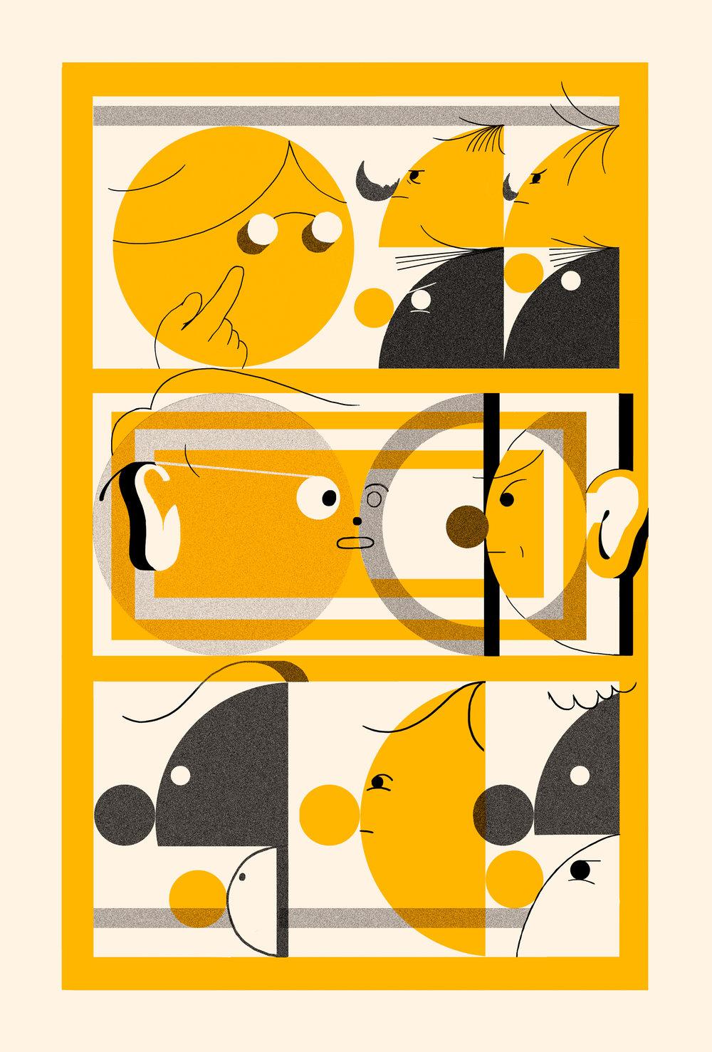 "The Conversation - Risograph, 11x17"", 2017"