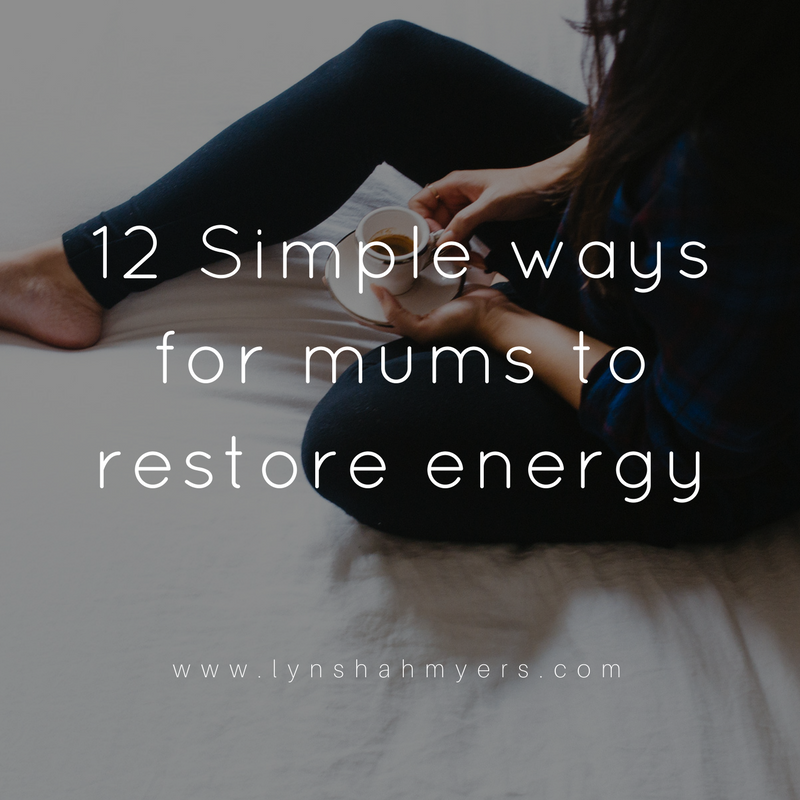 12 ways to restore energy