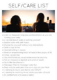 self care list