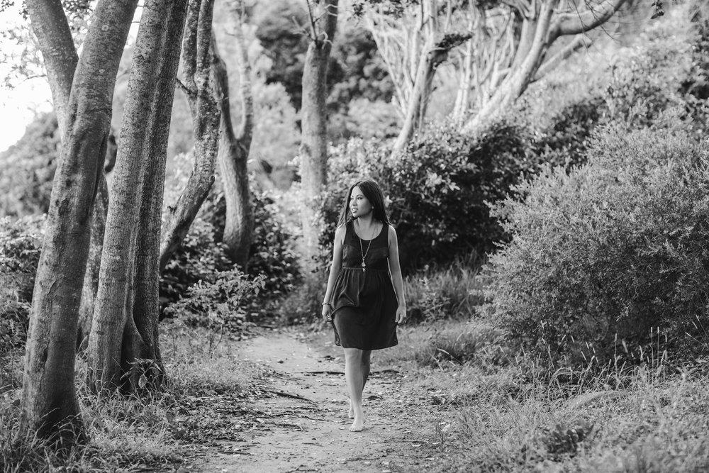 Lyn Shah Myers walking