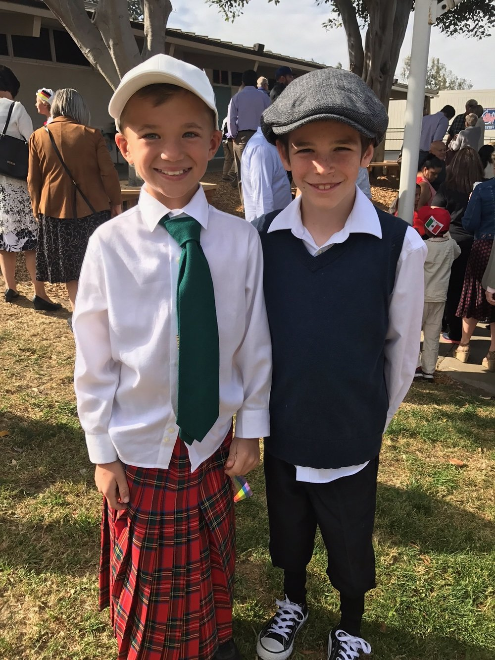 The dapper gents, James Piper and Caleb Posner, at Ancestor Day. Photo courtesy: Ali Posner