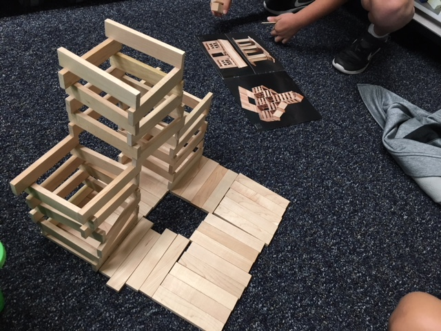 design and build challenges using keva planks. we are future architects and engineers!