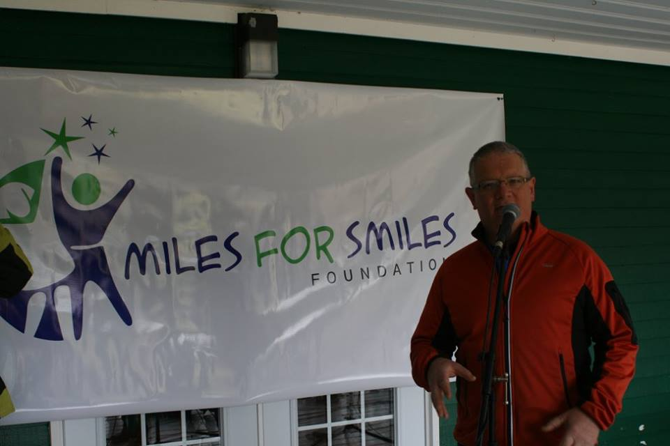 Tony Burke speaks at a Miles for Smiles event.