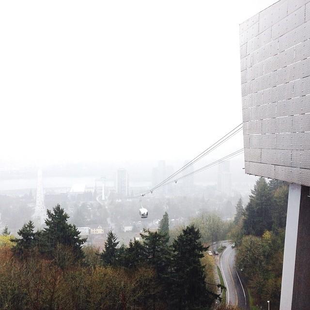 Yesterday; last look at Portland.  #portland #pdx #exploregon #pnw #northwestisbest #tram #upperleftusa #travel