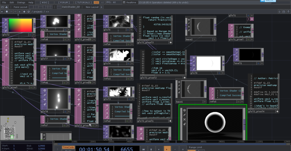 Daily Practices of the GLSL Patches in Touchdesigner