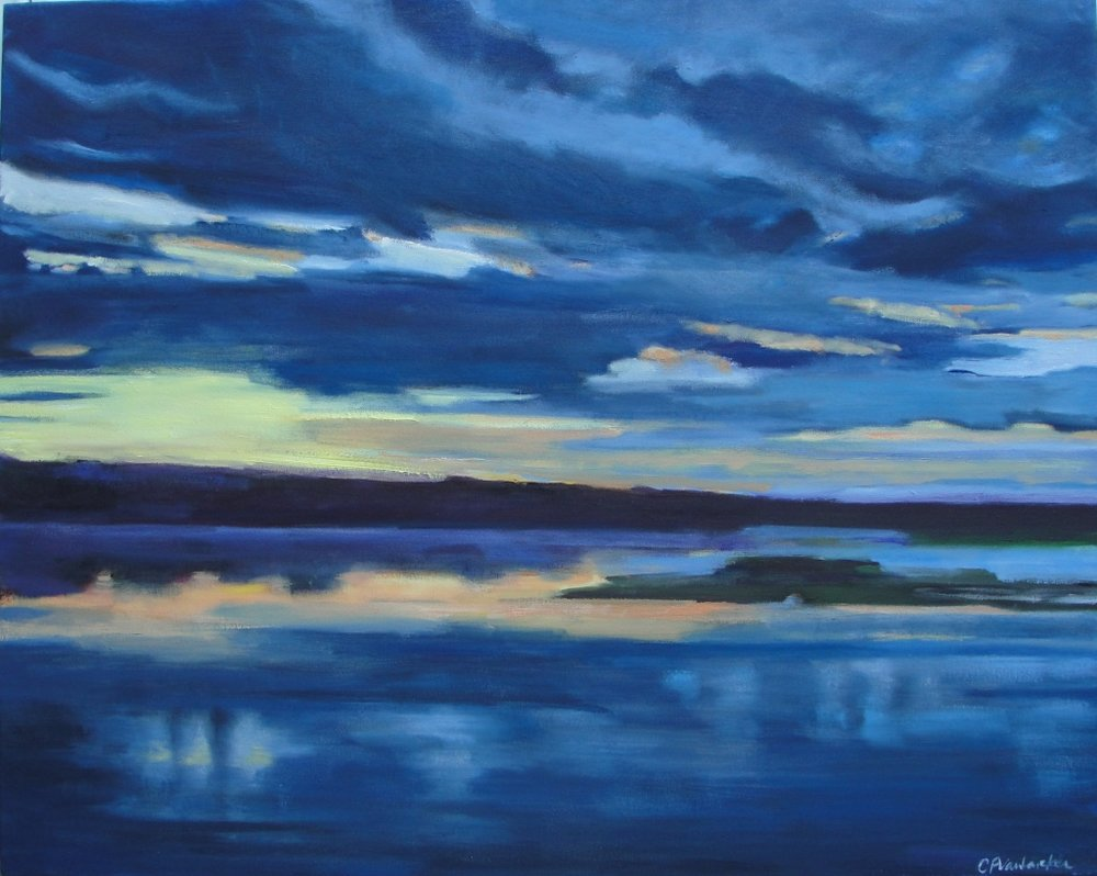 Matunuck Nightfall, 24 x 30