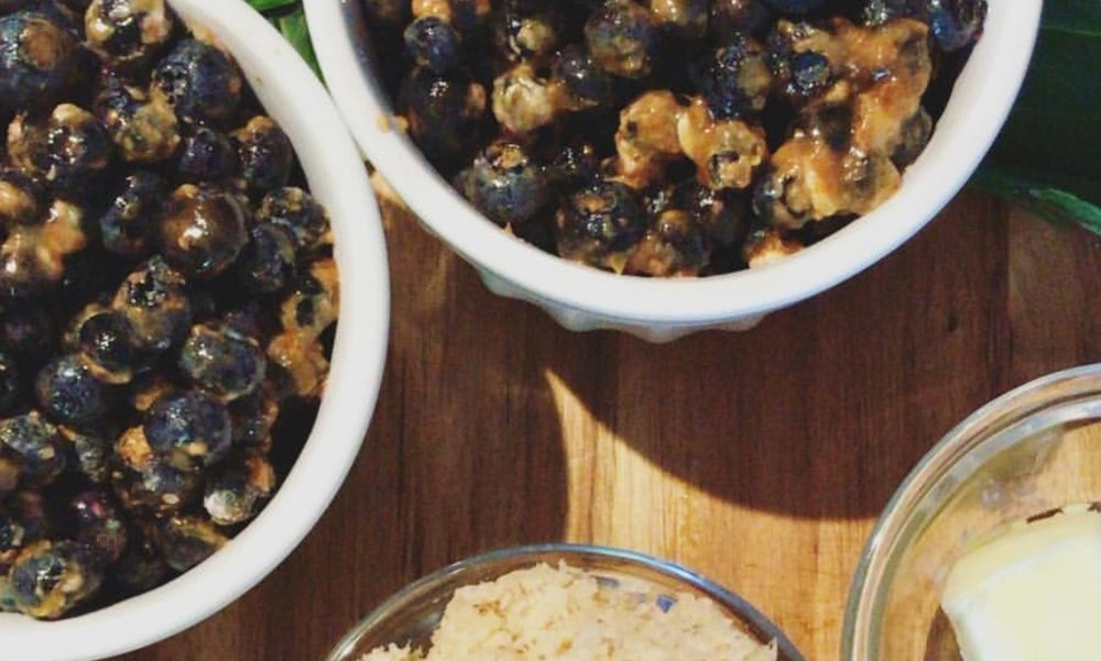 Blueberry Crumble - Recipe by: Chef Taylor Erickson from Food Network's Chopped