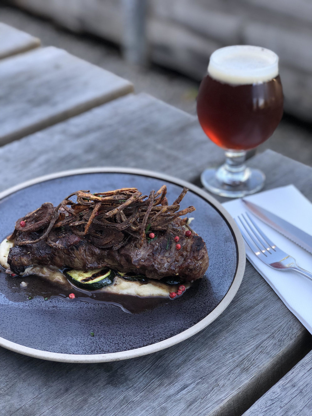 This Thursday from the chargrill -  300gram chargrilled porterhouse on a creamy artichoke mash and grilled zucchini, served with crispy fried onions plus your choice of beer or cider, straight from our taps *regular menu still available*Click here to book your table now.