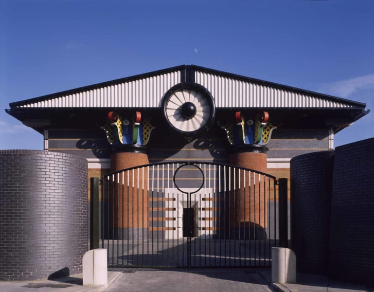 John Outram's Storm Water Pumping Station, in the Isle of Dogs, London. Credit: Arcaid/UIG via Getty Images