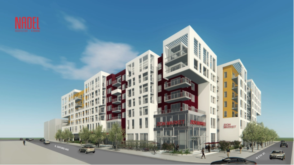 THE RISE, KOREATOWN, ONE OF SEVERAL MIXED-USE DEVELOPMENTS SET FOR THE CENTRAL LA NEIGHBORHOOD.PHOTO: NADEL ARCHITECTS