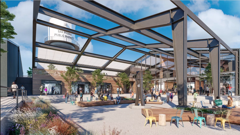 A rendering of the San Pedro Public Market.  Courtesy of Rapt Studio
