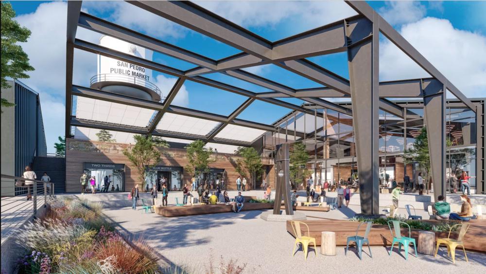 A rendering of the San Pedro Public Market.  Courtesy of Rapt Studio