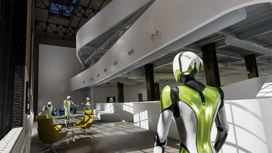 Courtesy Nvidia   Avatars navigate a virtual building