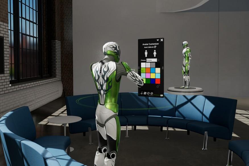 Courtesy Nvidia   Avatar customization panel