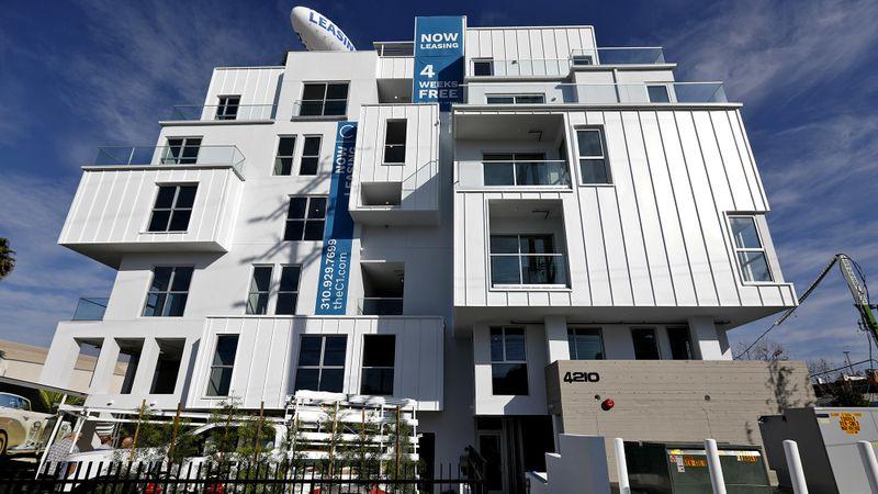 C1 apartment complex by California Landmark Group near Marina del Rey, Calif. (Gary Coronado / Los Angeles Times)