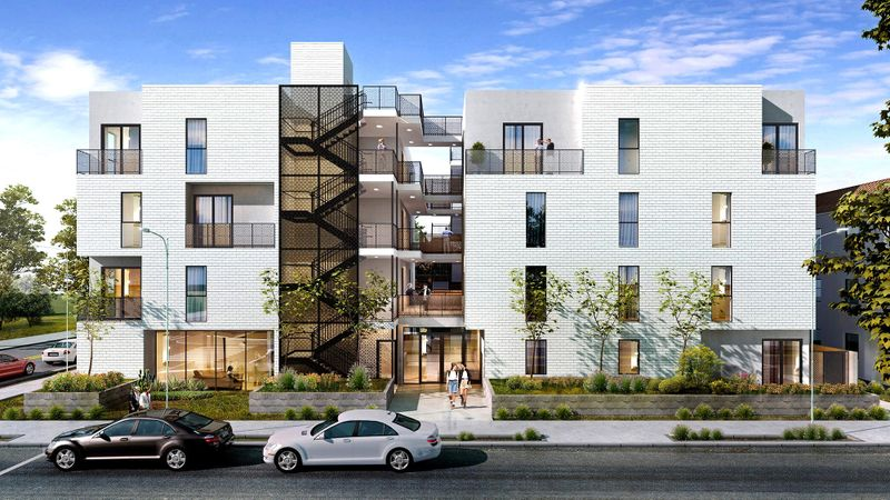 Rendering of a planned co-housing project in Mar Vista to be built by Proper Development and operated by Common. (Proper Development)