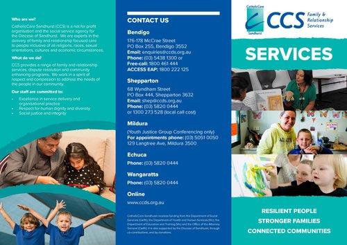 Brochures  Catholiccare Sandhurst  Bendigo Echuca  Shepparton