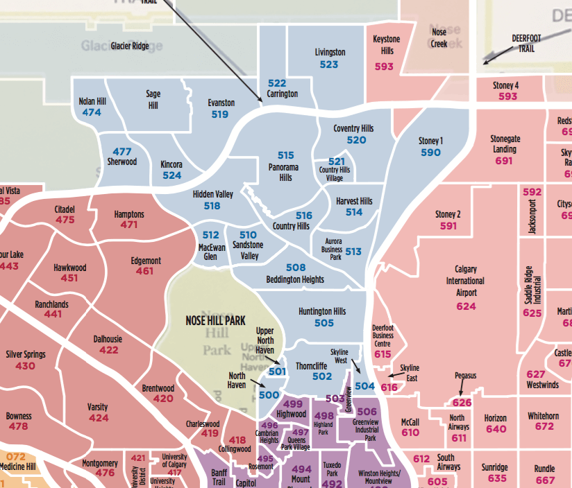 North Calgary Community MLS Map 2019