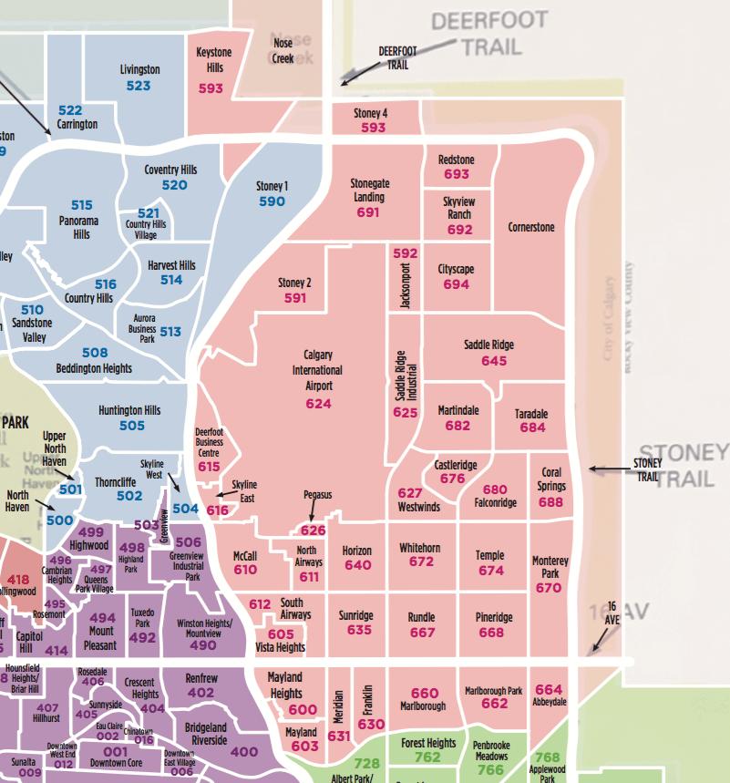North East Calgary Community MLS Map 2019