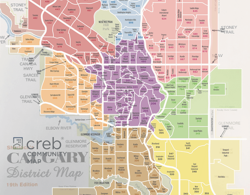 Calgary Community And Mls Map 2019 Renzo Real Estate Calgary