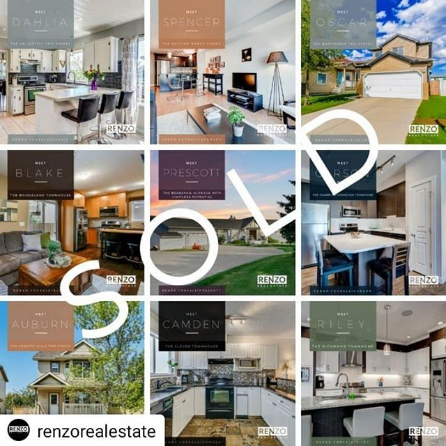 Fantastic work team! For agents, sellers, and buyers, navigating Calgary's current real estate market is no small task. It can take time, a high level of skill, and sometimes an adjustment in expectations.  Here are 9 recent listing sales marketed by the awesome agents at @renzorealestate. Together with the great buyer's agents, they were all able to help both buyer and seller accomplish their goals.  Congrats to everyone involved!  #realestate #realtor #realtorlife #homes #marketing