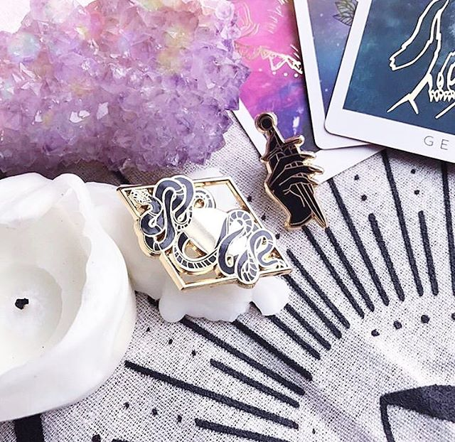 "Reposting this pic from @_theopaque_  of our @thethreadsoffate goodies because it's 🔥🔥🔥🔥🔥 . Fun fact: @iamblaireporter has a heavy habit of repeat watching movies. More specifically the Harry Potter and Twilight series. .  We recently switched over to Twilight and EVERY TIME we watch it, I ask her which ones die in the end because I'm morbid like that/there's an actual fight scene where shit goes down. She ALWAYS has to remind me that NOBODY dies in the end because the main vampires get bamboozled by a baby vampire with her weird mind-fuck-vortex-power. I become disappointed each time I relearn that nobody does-a-dead and there's not as much gore as I anticipated (only heavy breathing from K. Stew). . Our engagements are my favorite part of this series...That and us singing that wildly depressing Sia song ""My Love"" where we insert outlandish lyrics as we both have no clue what she's really saying. 🙆🏻‍♀️ . . . . . #bff #pingame #oracle #tarot #crystals #makeshit #witchesofinstagram #witchy"