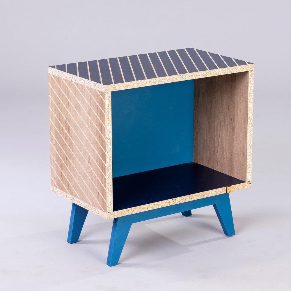 Henri Bleu Attu - Motif Oblique