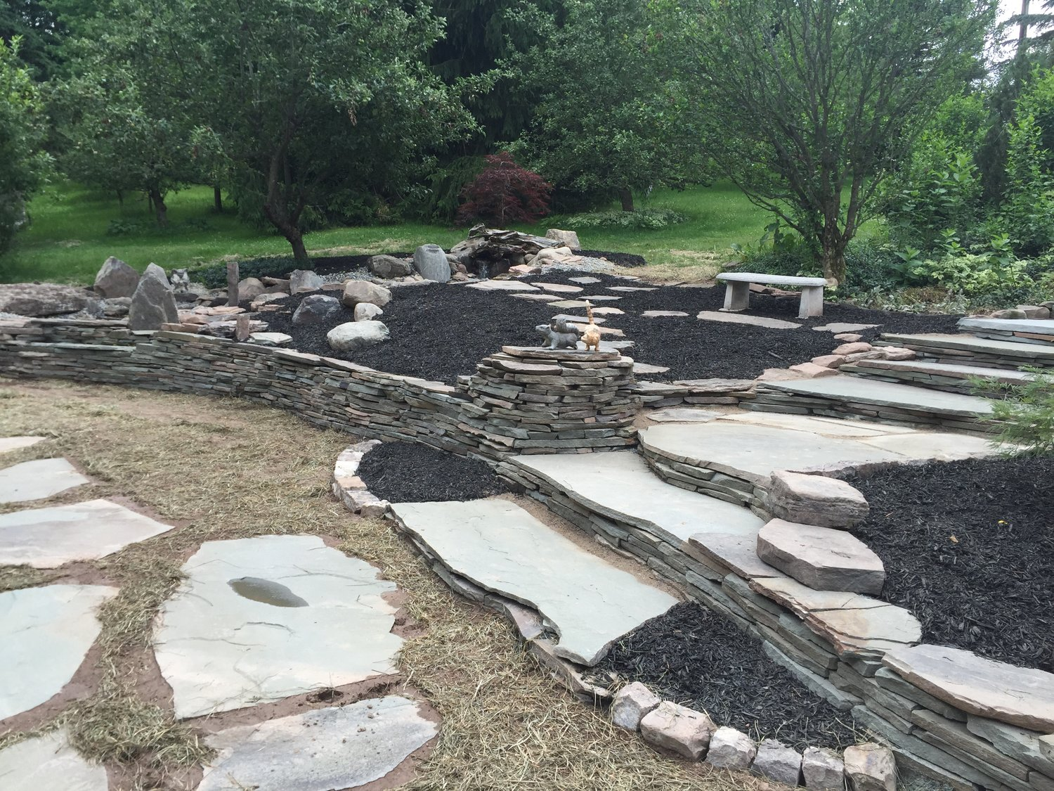 One-of-a Kind Yard Design and Landscaping - Natural Stone — Yard Art Landscaping