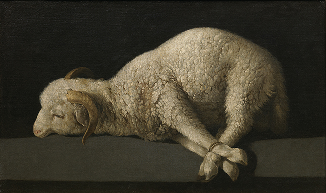 Francisco_de_Zurbarán-bound_lamb-Commons-650x385.jpg