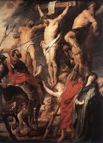 'Christ on the Cross between the Two Thieves' by Peter Paul Rubens | License - Public Domain